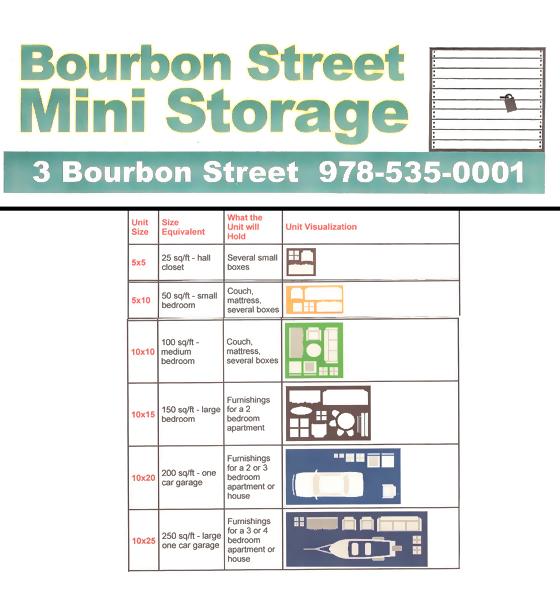 Storage Unit Rentals - Peabody, MA - Bourbon Street Mini Storage